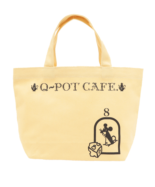 ■Q-pot CAFE.■タイニーマウスランチトートバッグ(イエロー)