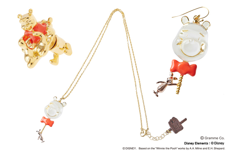 Mizuame Earrings with special package Winnie the Pooh Q-Pot Pooh